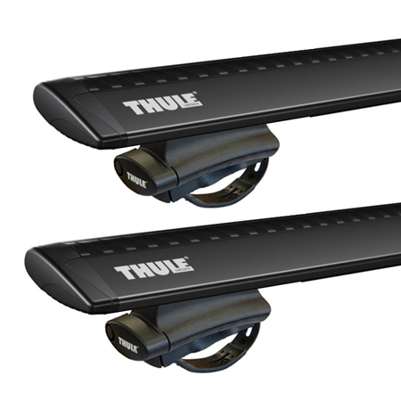 Dachträger Thule mit WingBar Black FORD Explorer Sport Trac 5-T SUV Dachreling 01+