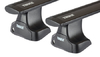 Dachträger Thule mit WingBar Black MITSUBISHI L 200 (KB4T) 2-T Extended-cab Normales Dach 05+