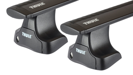 Dachträger Thule mit WingBar Black MITSUBISHI Mirage 5-T Hatchback Normales Dach 12-20