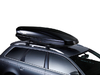 Dachträger Thule mit WingBar Black MITSUBISHI Space 5-T Wagon Dachreling 84+