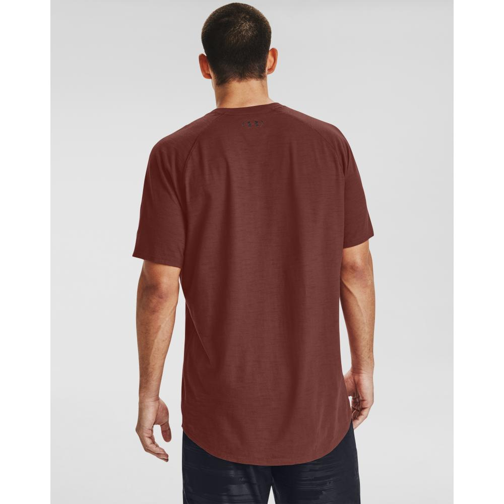 Herren T-Shirt Under Armour Charged Cotton SS rot Dynamic