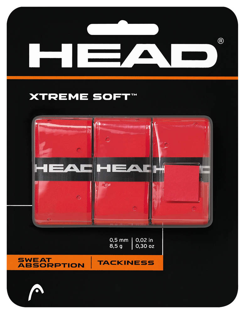 Overgrip Head Xtreme Soft Red (3 St.)
